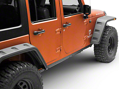 Rugged Ridge Body Armor Rocker Guards - Black (07-17 Wrangler JK 4 Door)