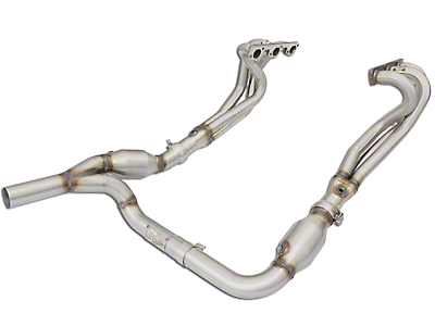 AFE 1-5/8 in. Twisted Steel Long Tube Headers w/ Y-Pipe - Street Series (07-11 3.8L Wrangler JK)