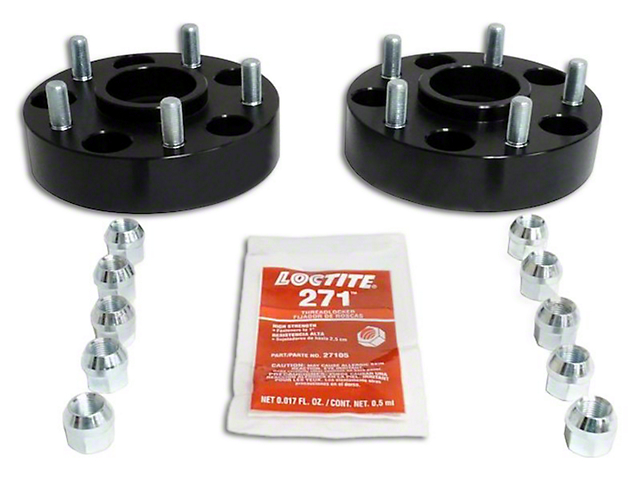 1.5 in. Black Wheel Spacers (07-18 Jeep Wrangler JK)