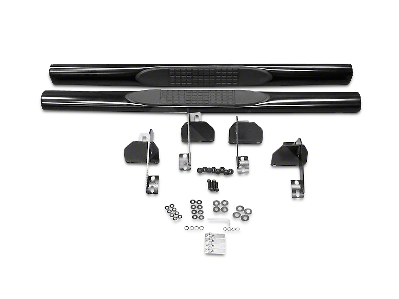 RT Off-Road 3 in. Tube Side Steps - Gloss Black (07-18 Jeep Wrangler JK 2 Door)