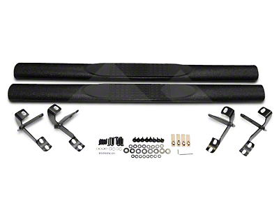 Crown Automotive 3 in. Tube Side Steps - Textured Black (07-18 Wrangler JK 2 Door)