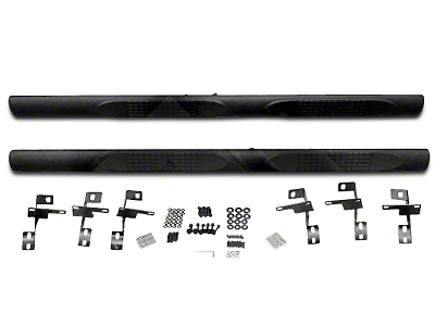 RT Off-Road 3 in. Tube Side Steps - Textured Black (07-18 Wrangler JK 4 Door)