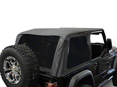 RT Off-Road Bowless Soft Top w/ Tinted Windows - Black Diamond (92-95 Wrangler YJ)