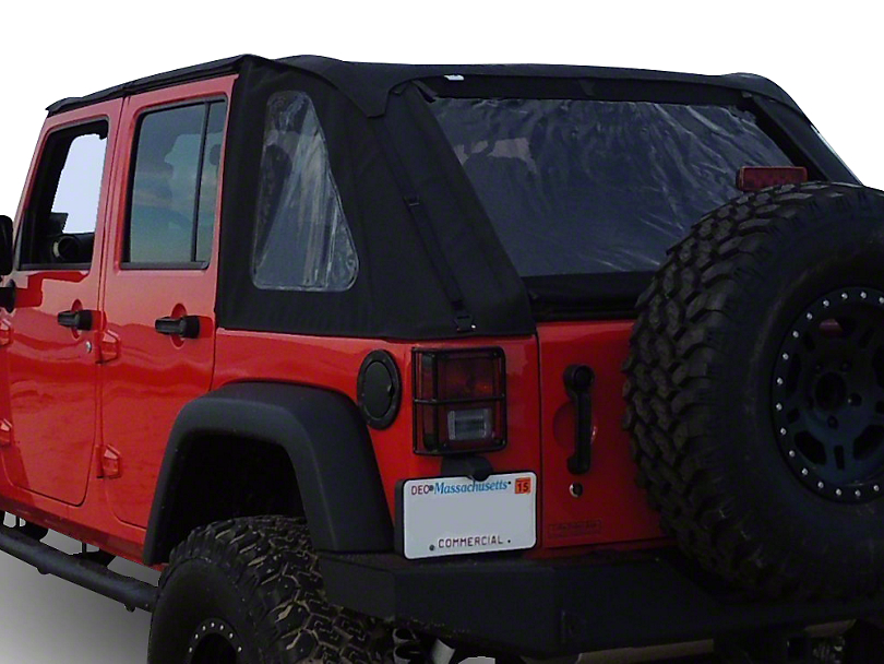 RT Off-Road Bowless Soft Top w/ Tinted Windows - Black Diamond (07-18 Jeep Wrangler JK 4 Door)