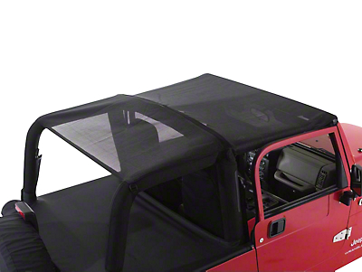 RT Off-Road Combo Beach Topper - Black Mesh (92-95 Wrangler YJ)
