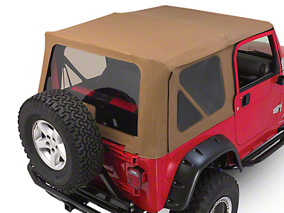 RT Off-Road Complete Soft Top w/ Tinted Windows - Khaki Diamond (97-06 Jeep Wrangler TJ w/ Half Steel Doors)