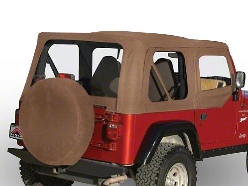 RT Off-Road Complete Soft Top w/ Tinted Windows - Spice Denim (97-06 Wrangler TJ w/ Half Steel Doors)
