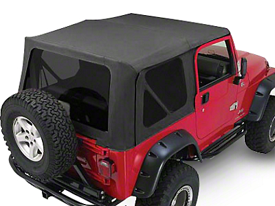 RT Off-Road Complete Soft Top w/ Tinted Windows - Black Diamond (87-95 Wrangler YJ w/ Full Steel Doors)