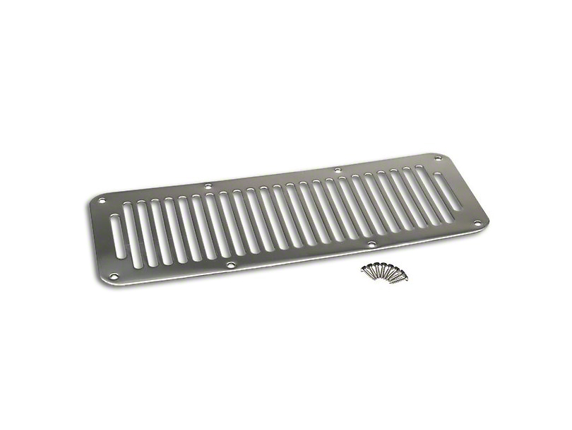 Cowl Vent Cover; Stainless (87-95 Jeep Wrangler YJ)