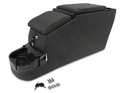 RT Off-Road Deluxe Duel Locking Center Console - Black Denim (87-95 Jeep Wrangler YJ)