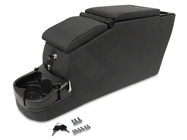 Deluxe Dual Locking Center Console; Black Denim (87-95 Jeep Wrangler YJ)