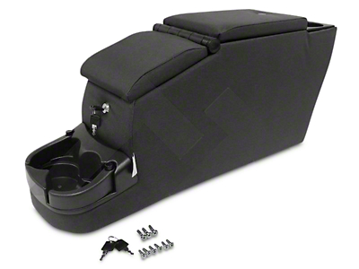 RT Off-Road Deluxe Duel Locking Center Console - Black Denim (87-95 Wrangler YJ)