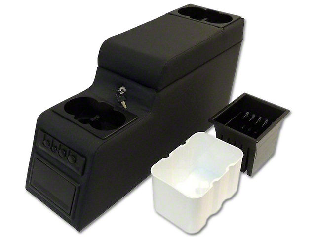 RT Off-Road Deluxe Locking Center Console - Black Denim (87-95 Jeep Wrangler YJ)
