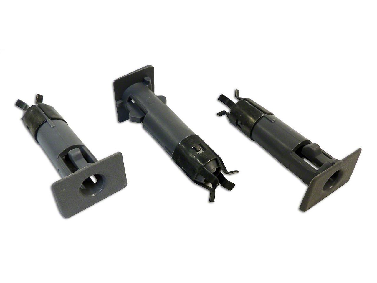 Crown Automotive Door Pin Insert Kit - Charcoal (87-06 Wrangler YJ & TJ w/ Half Doors)