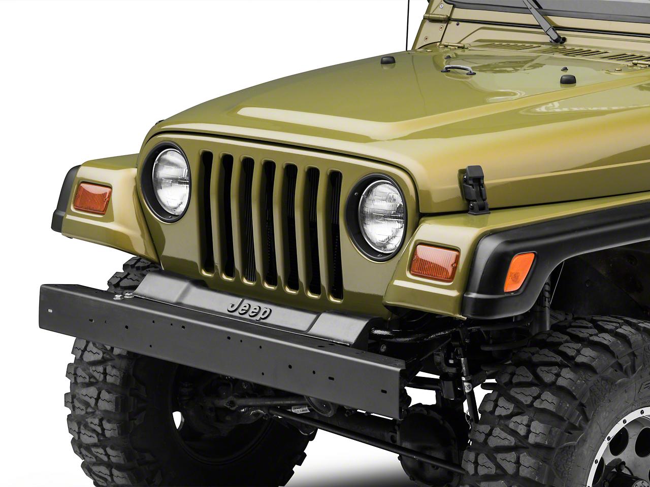 Front Bumper - Black (97-06 Jeep Wrangler TJ)