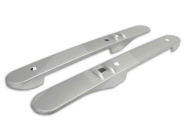 RT Off-Road Front Interior Door Accent Set - Brushed Silver (07-10 Wrangler JK w/ Power Windows)