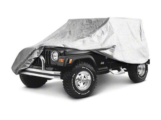 Full Car Cover; Gray (07-18 Jeep Wrangler JK 4 Door)