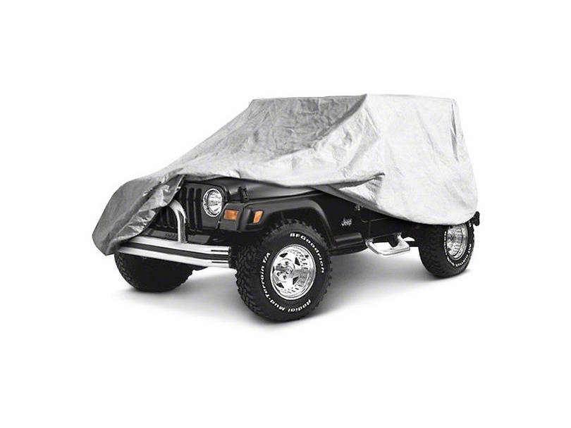Full Car Cover - Gray (04-06 Jeep Wrangler TJ Unlimited)