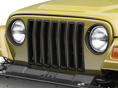 RT Off-Road Grille Inserts - Black (97-06 Wrangler TJ)