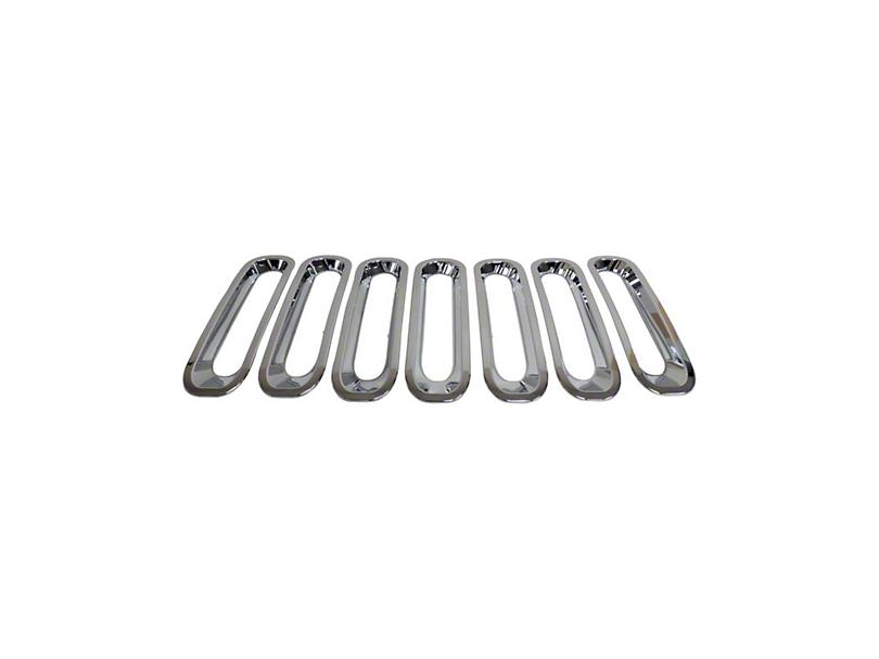 Grille Inserts - Chrome (07-18 Jeep Wrangler JK)