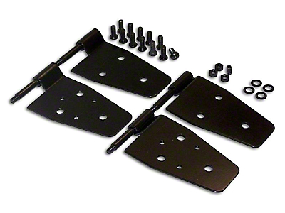 RT Off-Road Half Door Hinges - Black (87-06 Jeep Wrangler YJ & TJ)