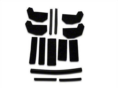 JEEP JK WRANGLER REMOVABLE HARD TOP FOAM BLOCKER SEAL KIT  68026937AB 13510.70