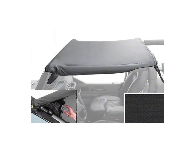Rugged Ridge Pocket Brief Top - Black Diamond (87-91 Jeep Wrangler YJ)