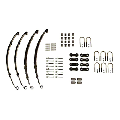 Heavy Duty Front & Rear Leaf Springs (87-95 Wrangler YJ w/ Dana 35 Rear Axle)