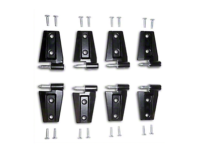 Crown Automotive Left & Right Door Hinge Set (07-18 Jeep Wrangler JK 4 Door)