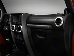 Rugged Ridge Brushed Aluminum AC Vent Bezels (07-10 Jeep Wrangler JK)