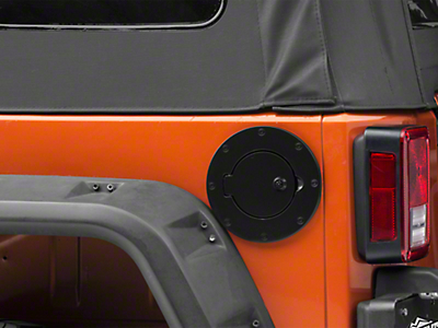 RT Off-Road Locking Fuel Door - Black (97-06 Wrangler TJ; 07-18 Wrangler JK 4 Door)