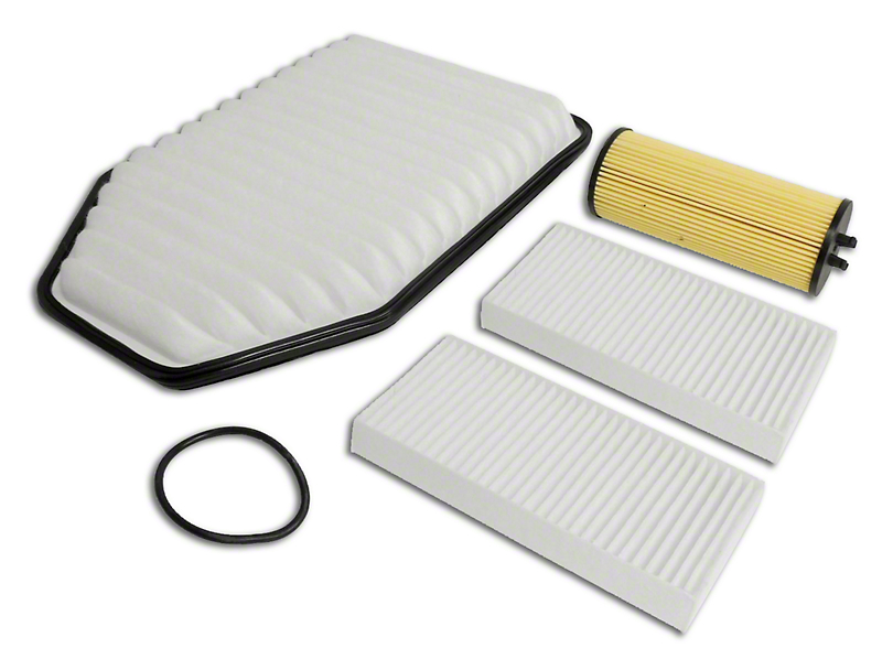 Oil, Air, and Cabin Filter Kit (12-13 3.6L Jeep Wrangler JK)