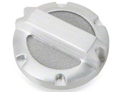 Rugged Ridge Brushed Billet Aluminum Brake Master Cylinder Cap (97-18 Jeep Wrangler TJ & JK)