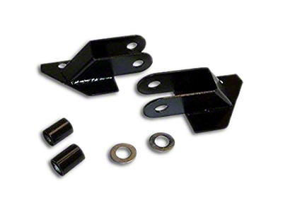 Crown Automotive Mirror Relocation Bracket Set - Black (87-95 Wrangler YJ)