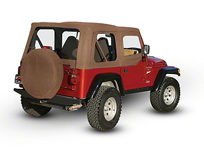 RT Off-Road OEM Replacement Soft Top w/ Windows & Door Skins - Spice (97-06 Jeep Wrangler TJ w/ Soft Upper Doors, Excluding Unlimited)