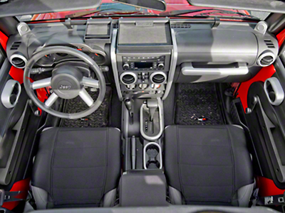 Rugged Ridge Brushed Silver Interior Trim Accent Kit (07-10 Wrangler JK 2 Door w/ Manual Transmission & Manual Windows)
