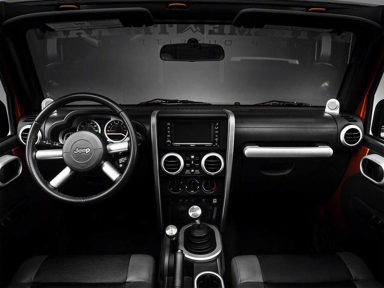 Rugged Ridge Brushed Silver Interior Trim Accent Kit (07-10 Jeep Wrangler JK 4 Door w/ Manual Transmission, Manual Windows)