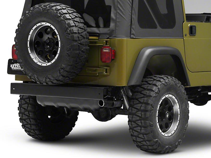 Rear Bumper - Black (97-06 Jeep Wrangler TJ)