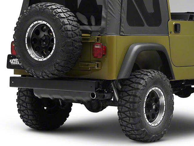 Omix ADA Rear Bumper   Black (97 06 Jeep Wrangler TJ)