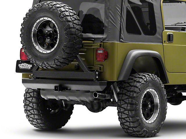 f658657d857 RT Off-Road Jeep Wrangler Rear Bumper w/ Tire Carrier RT20005 (87-06 Jeep  Wrangler YJ & TJ)