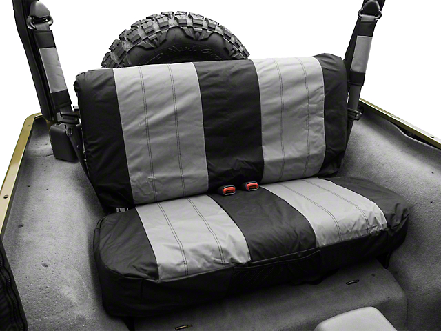 RT Off-Road Rear Seat Cover - Black/Gray (87-02 Wrangler YJ & TJ)