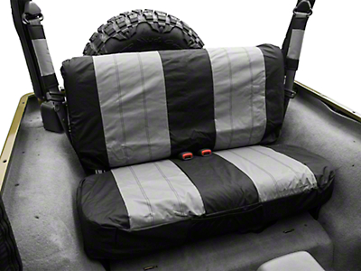 RT Off-Road Rear Seat Cover - Black/Gray (87-02 Wrangler YJ & TJ)