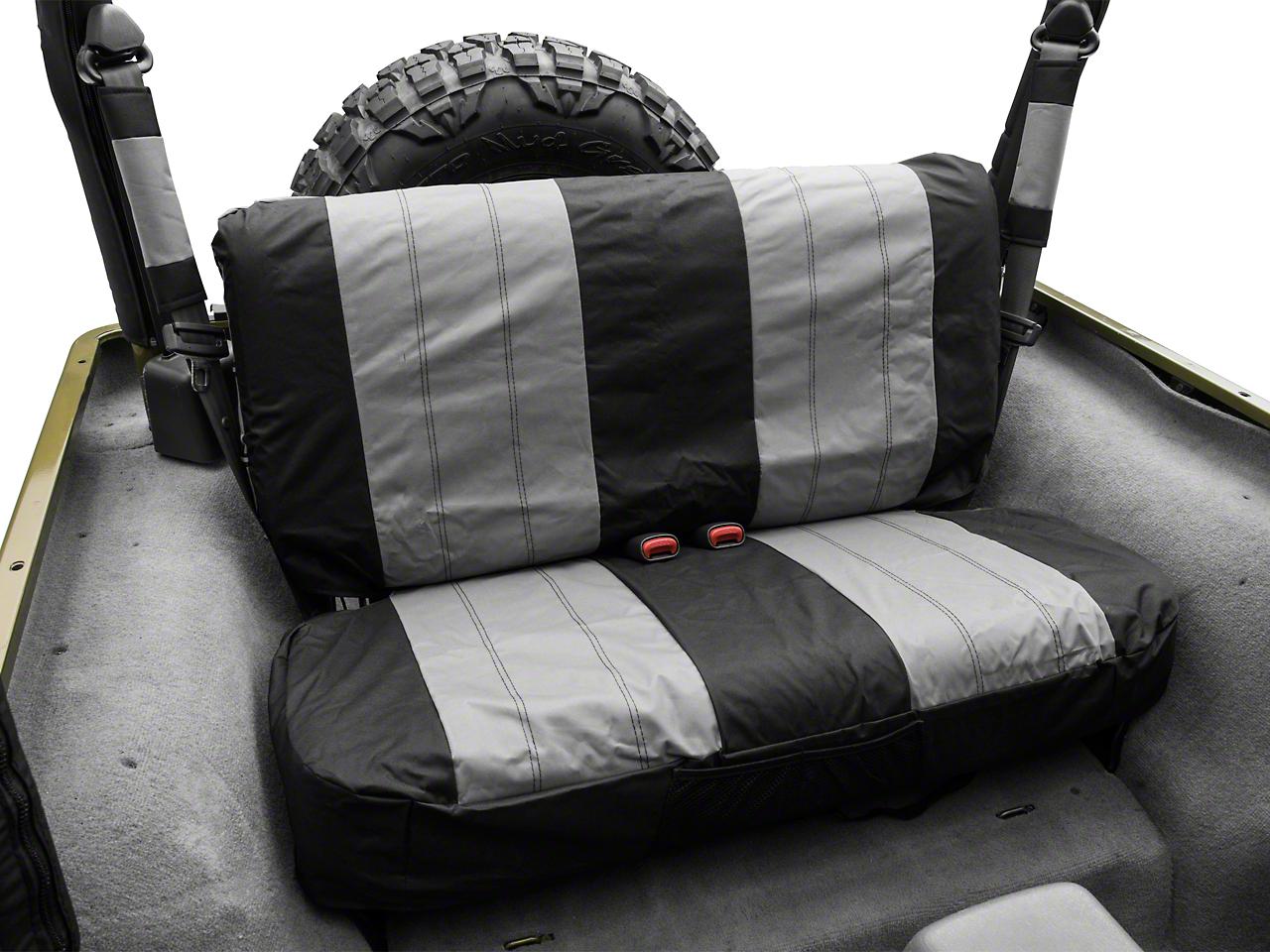 Crown Automotive Rear Seat Cover - Black/Gray (87-02 Wrangler YJ & TJ)