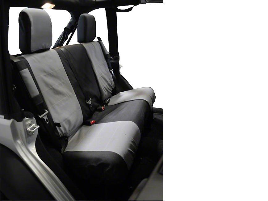 RT Off-Road Rear Seat Cover - Black/Gray (07-10 Wrangler JK 2 Door)