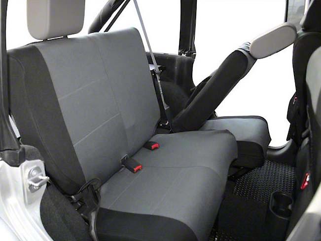 Crown Automotive Rear Seat Cover - Black/Gray (07-11 Wrangler JK 4 Door)
