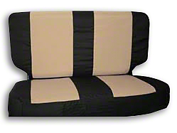 RT Off-Road Rear Seat Cover - Black/Tan (87-02 Jeep Wrangler YJ & TJ)