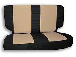 RT Off-Road Rear Seat Cover - Black/Tan (03-06 Jeep Wrangler TJ)