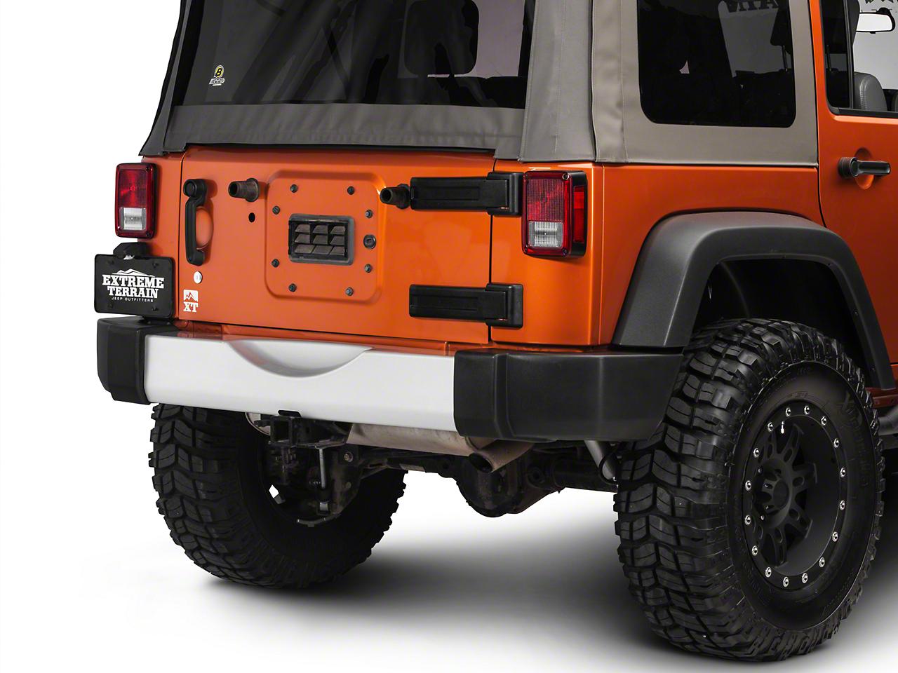 Rugged Ridge Silver Rear Bumper Applique (07-18 Wrangler JK)