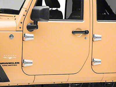 RT Off-Road Stainless Door Hinge Kit (07-18 Jeep Wrangler JK 4 Door)