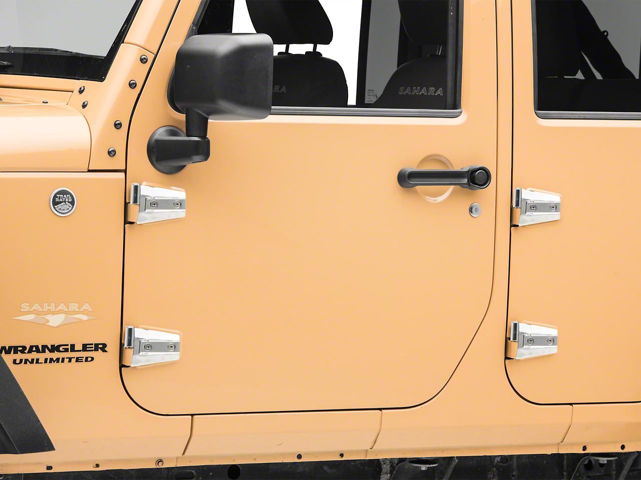 RT Off-Road Stainless Door Hinge Kit (07-18 Wrangler JK 4 Door)